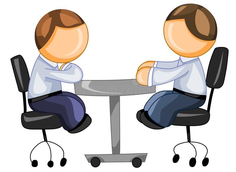 坐表的业务伙伴 库存例证