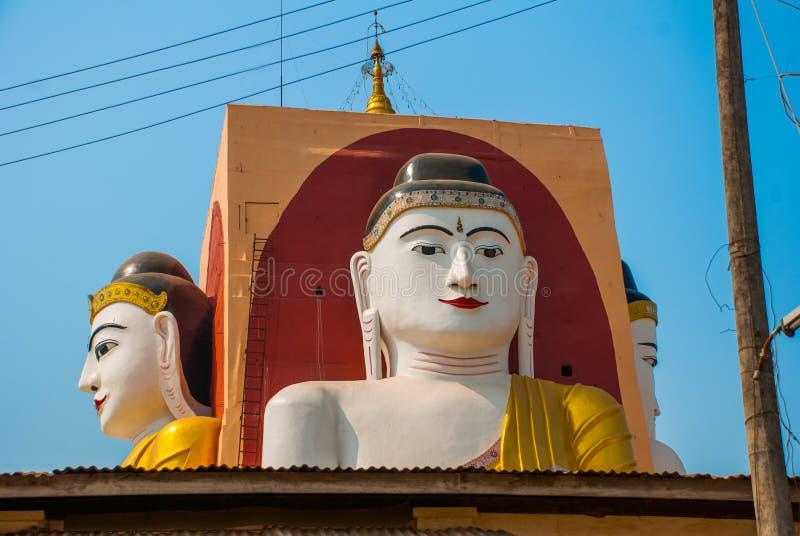 Download 坐Buddhas四个雕象  塔Kyaikpun菩萨 Bago,缅甸 缅甸 库存照片 - 图片 包括有 发芽, 印象: 72362692