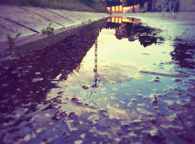 水坑 免版税图库摄影