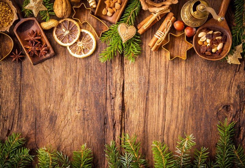 结块圣诞节香料 库存图片