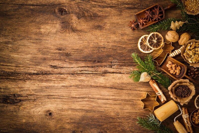结块圣诞节香料 免版税图库摄影