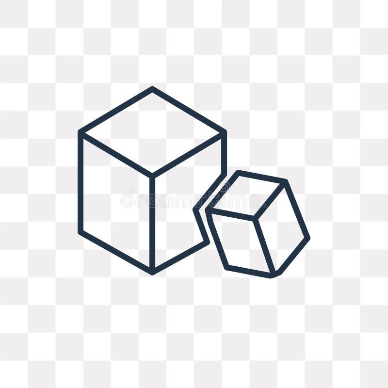 块在透明背景隔绝的传染媒介象,线性Bl 向量例证