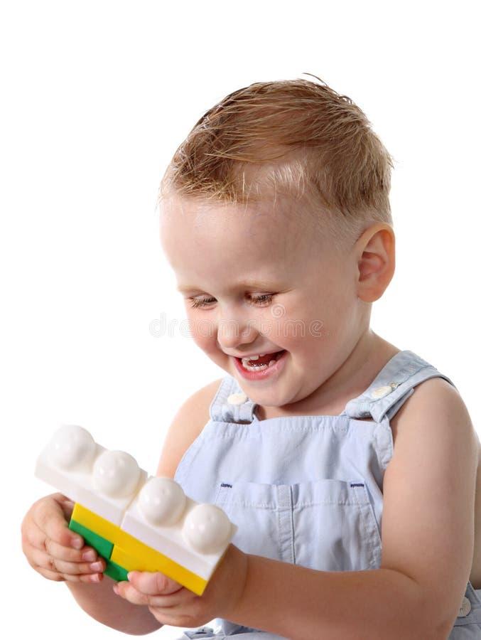 块孩子演奏玩具 库存图片