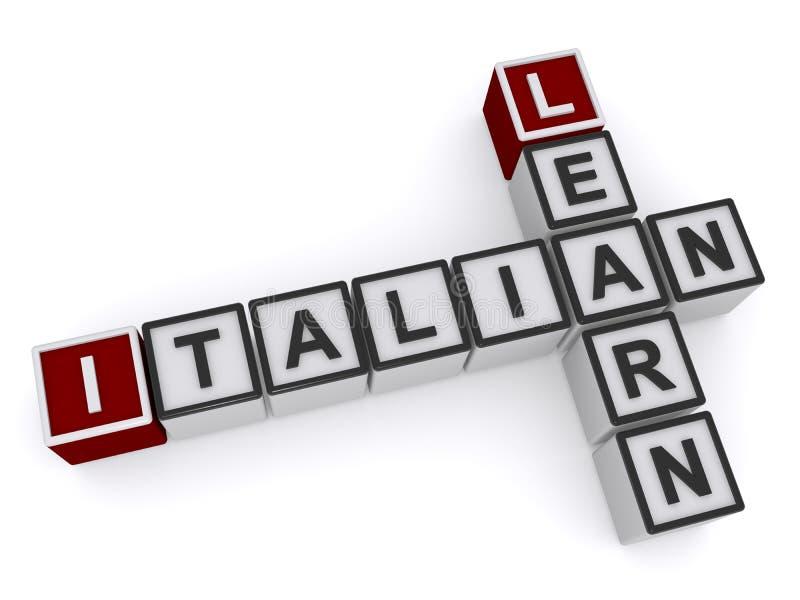 块拼写学会意大利语 皇族释放例证
