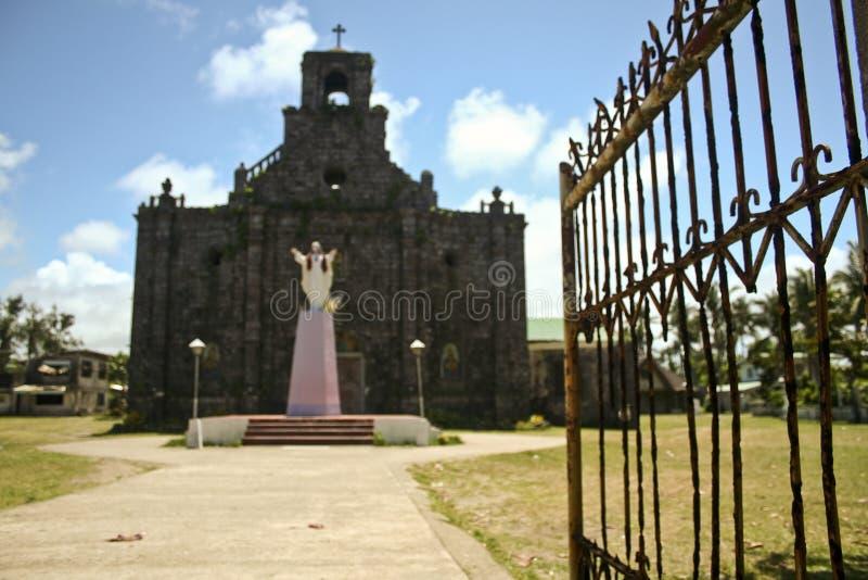 块教会殖民地珊瑚菲律宾 库存照片