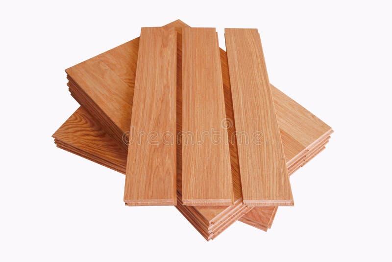 块橡木木条地板 图库摄影