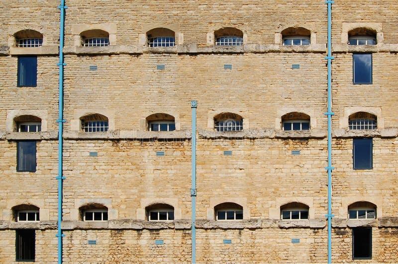 块电池监狱墙壁 免版税库存照片