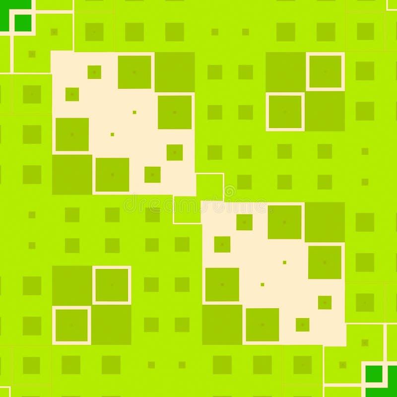 块绿色正方形纹理 皇族释放例证