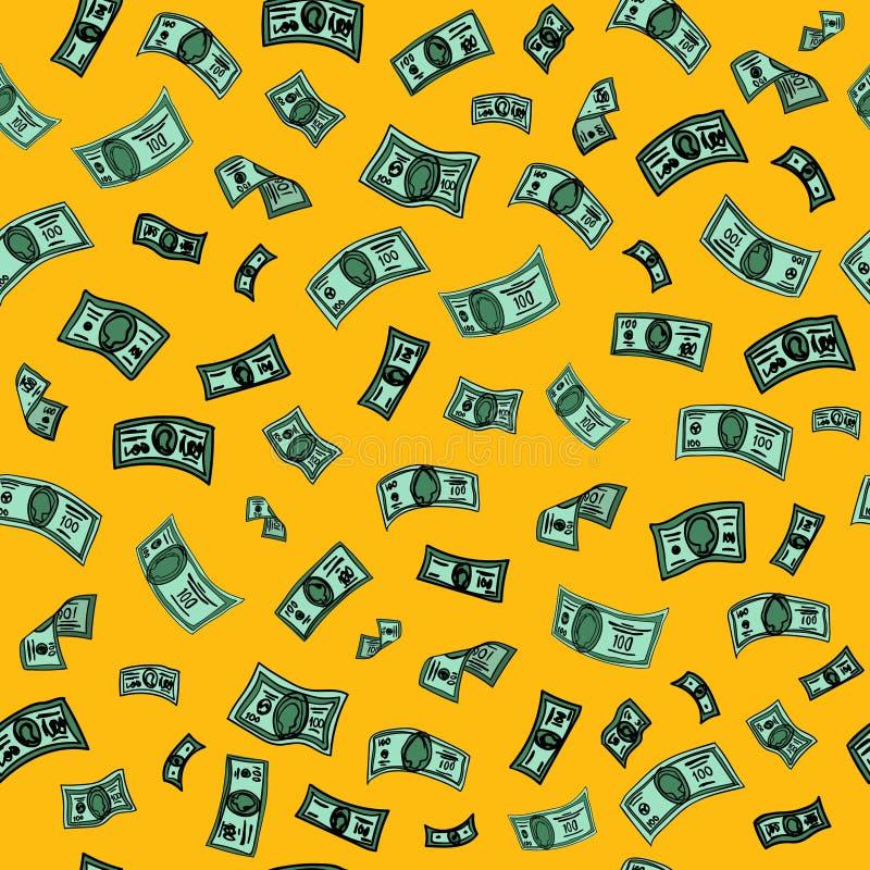 5000块背景票据货币模式卢布 背景设计美元要素例证向量 钞票背景 向量例证