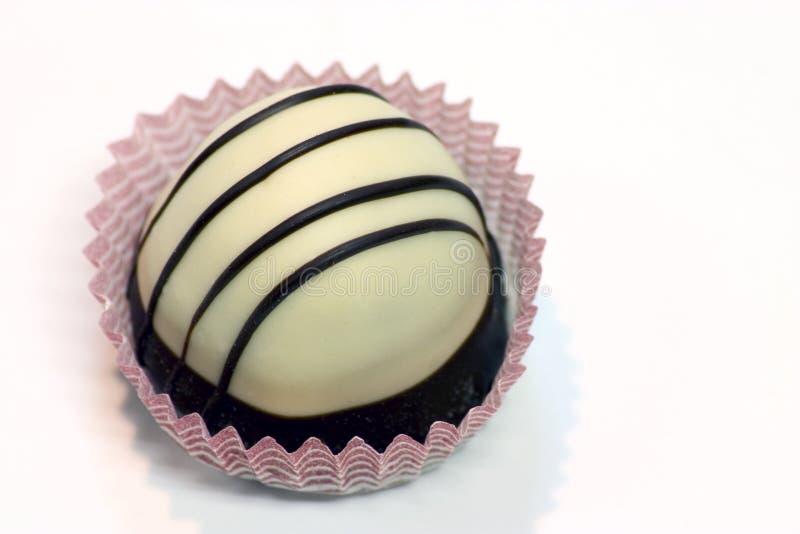 块菌状巧克力白色 图库摄影