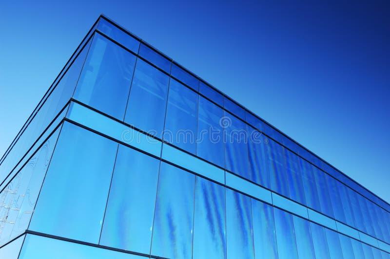 块蓝色办公室 免版税库存照片
