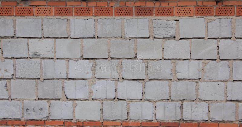 块蓝色微风砖墙 免版税图库摄影