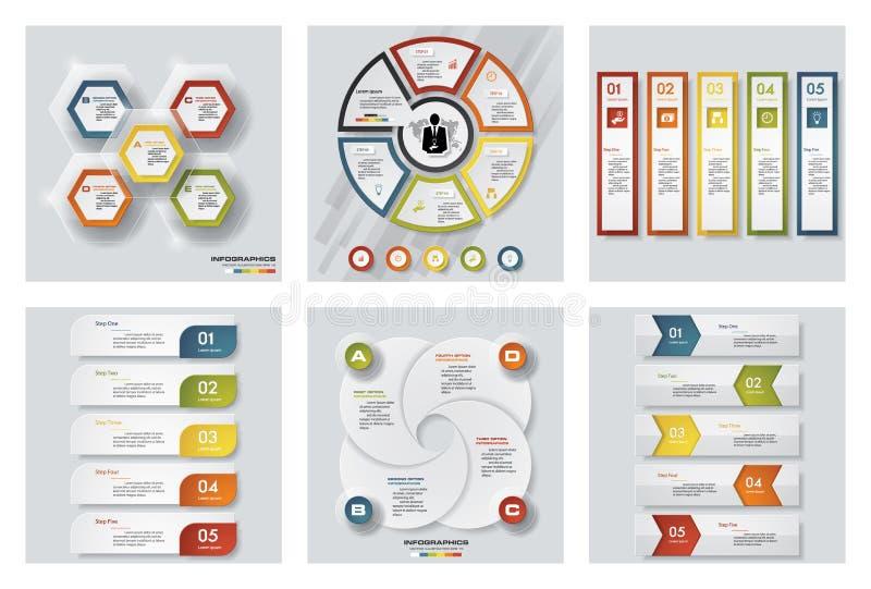 6块设计五颜六色的介绍模板的汇集 向量背景 皇族释放例证