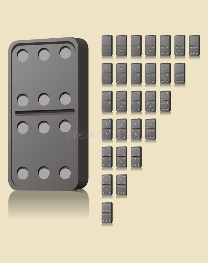 块Domino比赛 库存例证