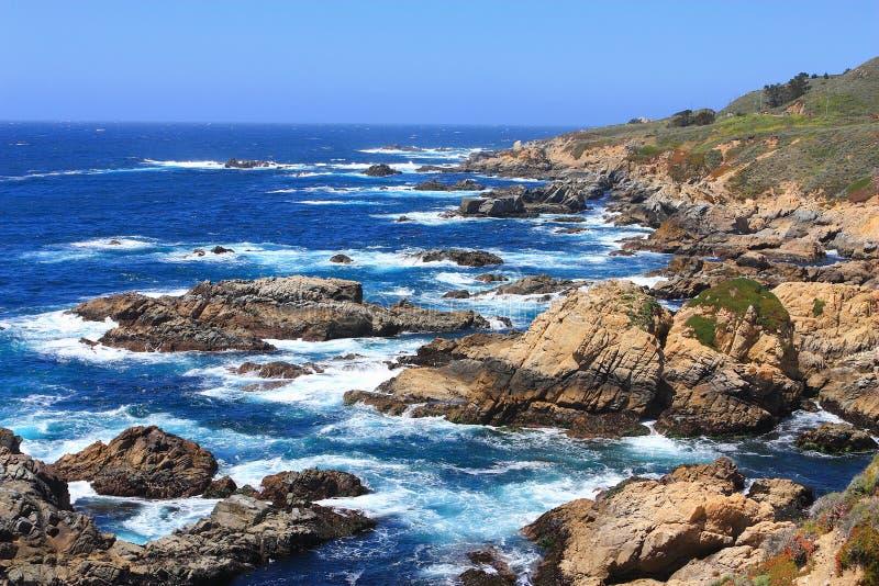 坚固性大瑟尔海岸,加利福尼亚中部 图库摄影