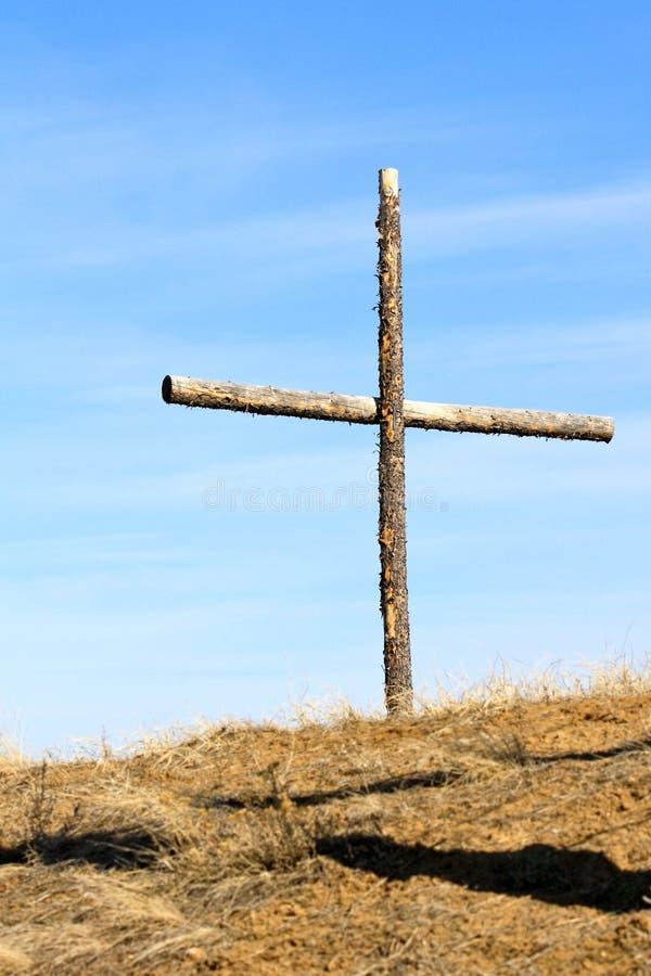 坚固性杉木启发十字架 免版税库存图片