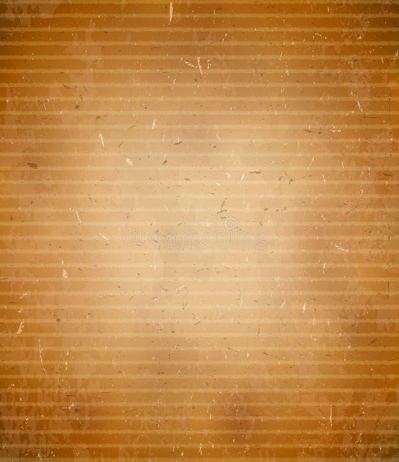 坚固性背景的纸板 向量例证