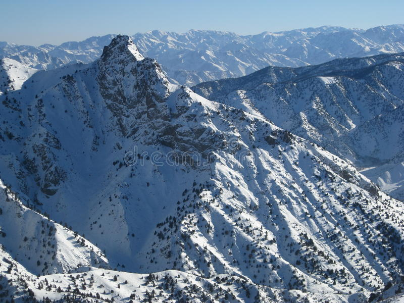 坚固性阿富汗的峰顶 免版税库存照片