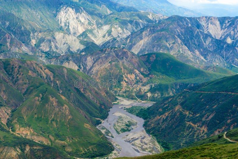 坚固性Chicamocha峡谷 库存图片