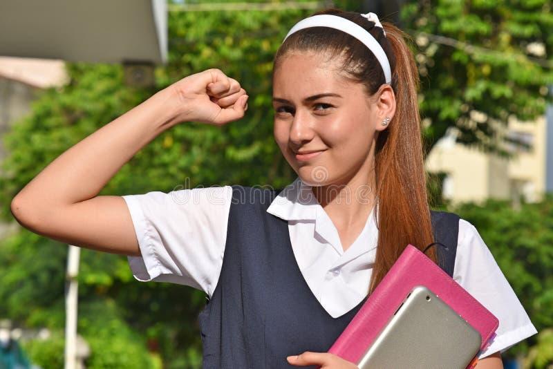 坚强的宽容哥伦比亚的学生少年学校女孩 库存照片