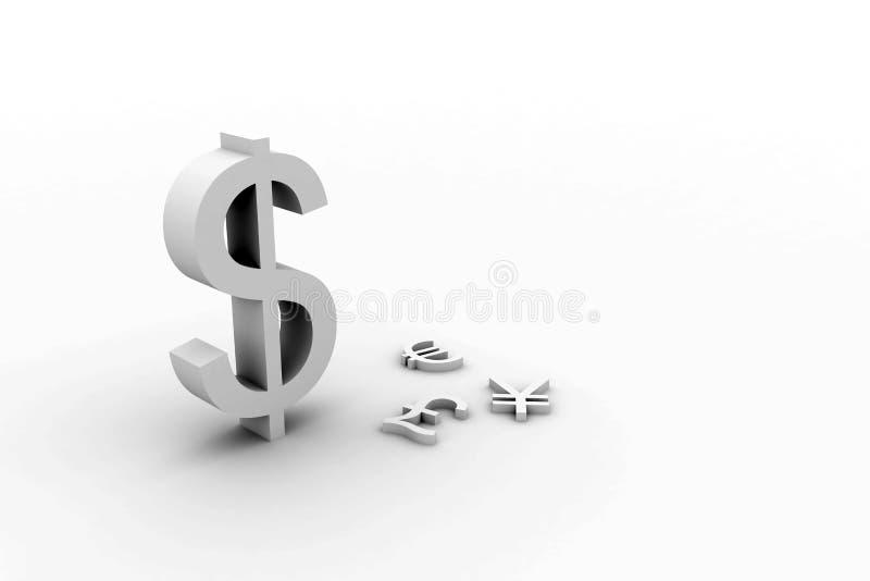 坚挺的美元 向量例证