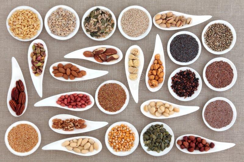 坚果和种子 库存图片