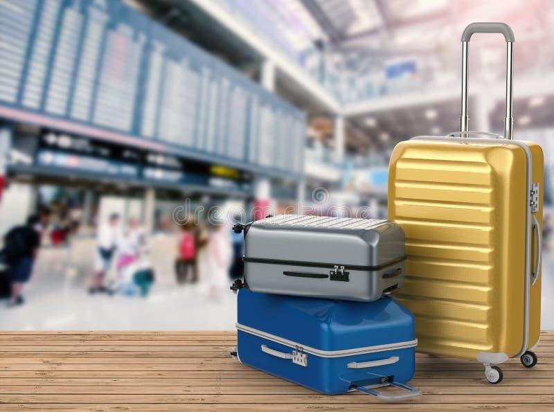 坚硬案件行李 免版税库存照片