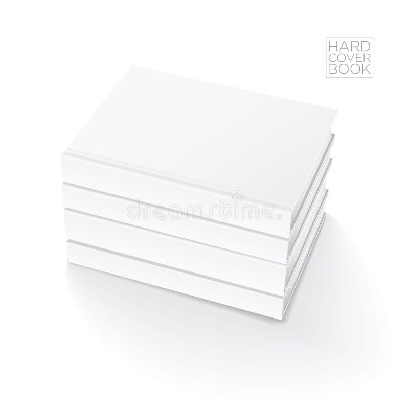 坚硬盖子书模板 向量例证