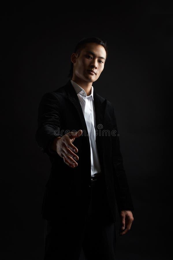坚韧亚洲的生意人 免版税库存图片