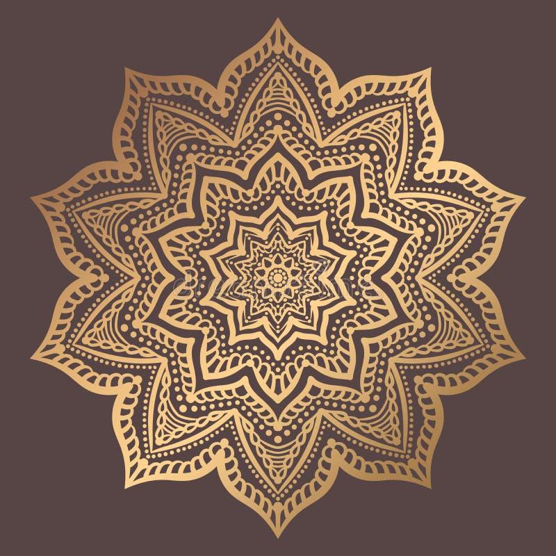 风格化花卉主题 凝思瑜伽商标的查克拉标志 复杂华丽织法大奖章 纹身