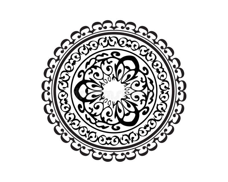 坛场传染媒介黑色和桔子 库存例证