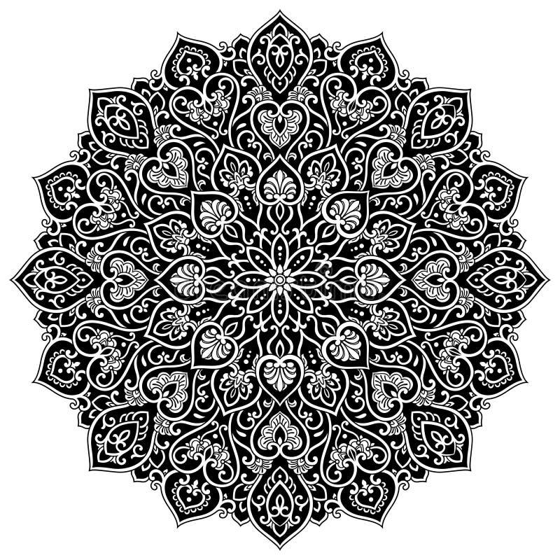 坛场几何圈子元素,黑 皇族释放例证
