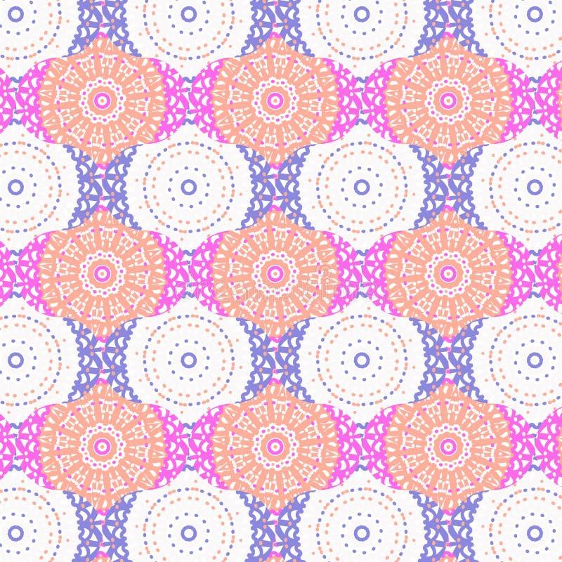 坛场和ogee五颜六色的无缝的样式 向量例证
