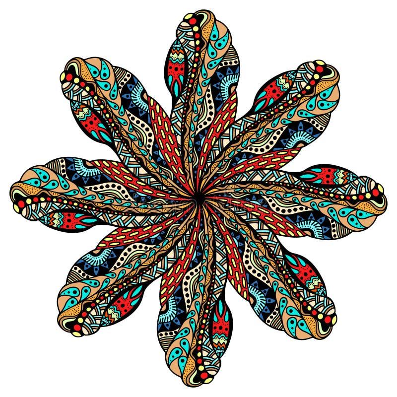 坛场圆的装饰品 库存例证