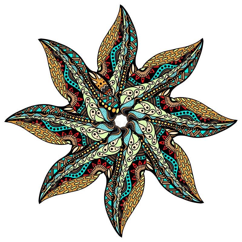 坛场圆的装饰品 向量例证