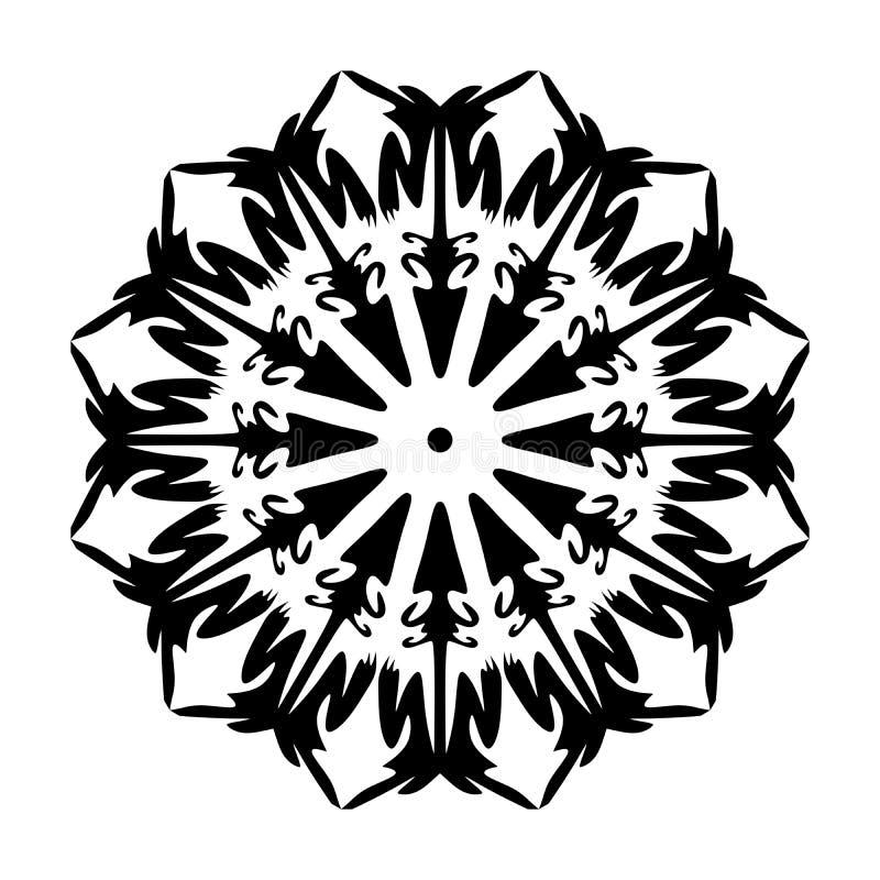 坛场样式弯曲的样式花样式装饰 库存例证