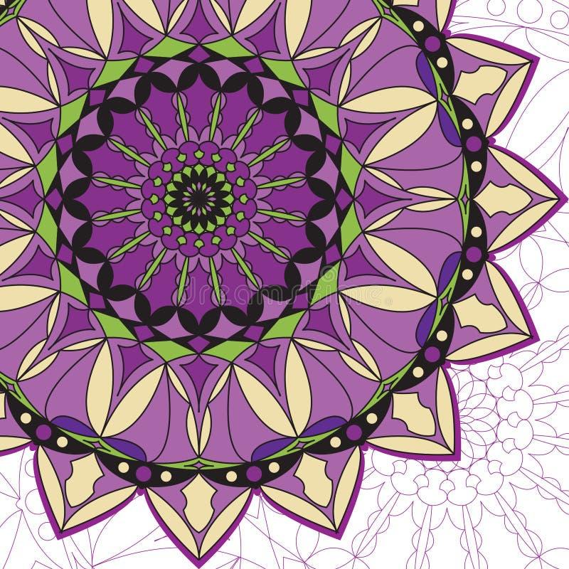 坛场背景,紫色和黄色颜色 皇族释放例证