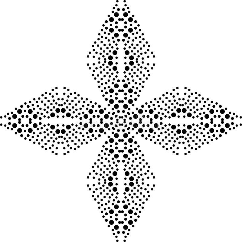 坛场黑白的光点图形 向量例证图片