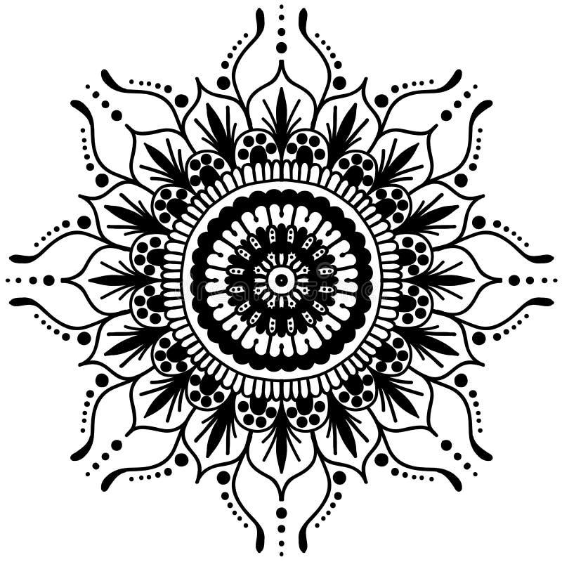 坛场 圆的装饰品样式 装饰要素葡萄酒 背景被画的现有量 回教,阿拉伯语,印地安无背长椅主题 库存例证