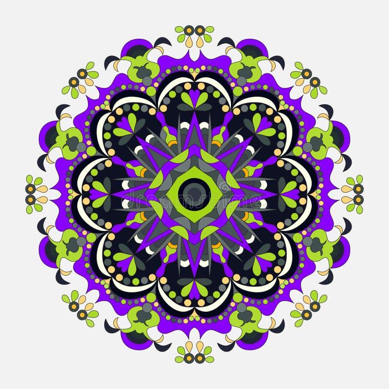 坛场 圆的装饰品样式 装饰要素葡萄酒 也corel凹道例证向量 皇族释放例证