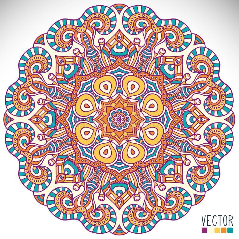 坛场 圆的装饰品样式 库存例证