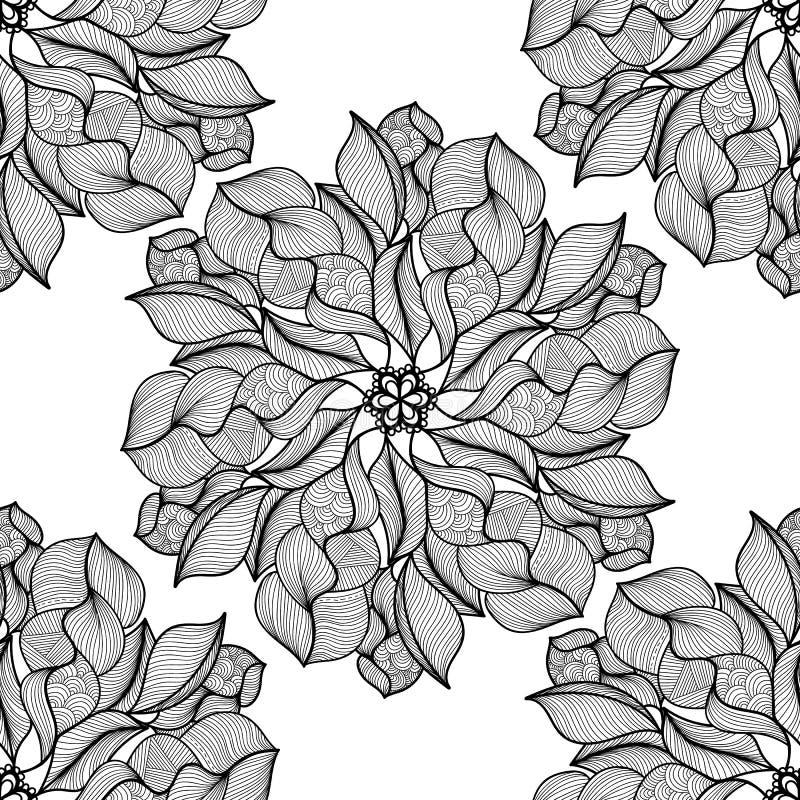 坛场 黑白圆的装饰品 也corel凹道例证向量 向量例证