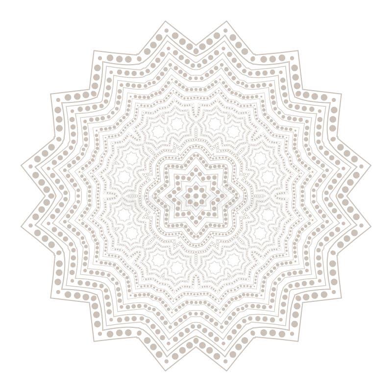 坛场 种族圆的装饰品 种族样式 邀请卡片的元素 东方圆样式,鞋带背景 卡片, b 库存例证