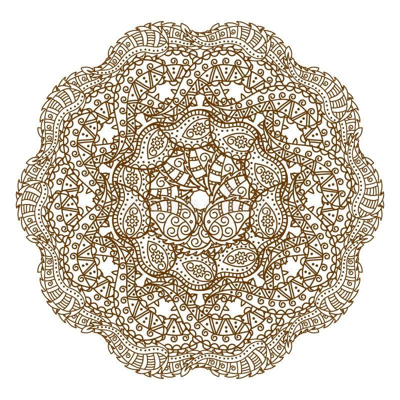 坛场 种族装饰圆的样式 背景被画的现有量 库存例证