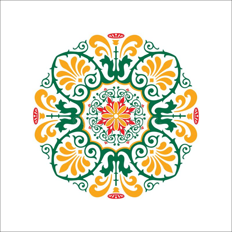 坛场Ilustration装饰品 向量例证