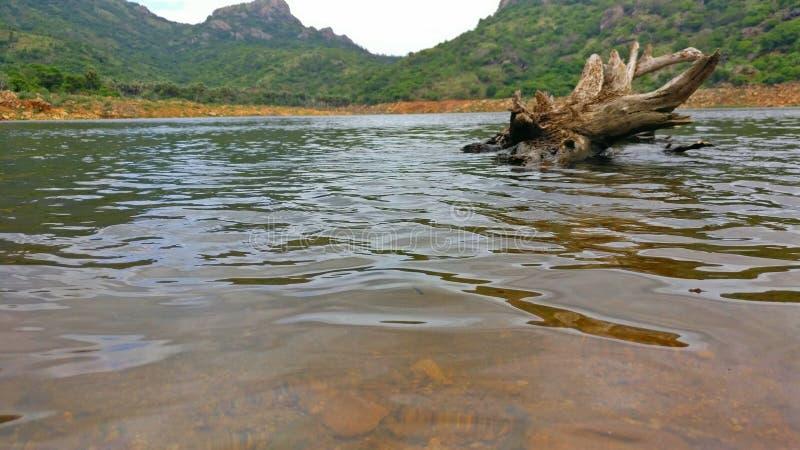水坝缺乏水摄影 库存照片