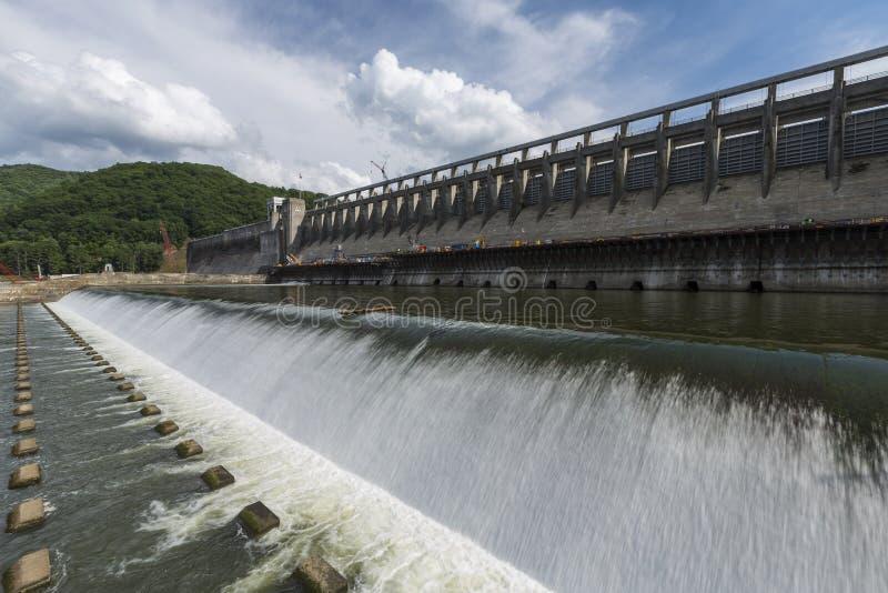 水坝Bluestone湖 免版税图库摄影