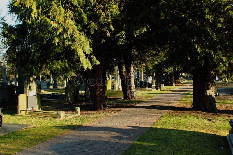 坟园在Geel,一小镇在富兰德,比利时 库存图片