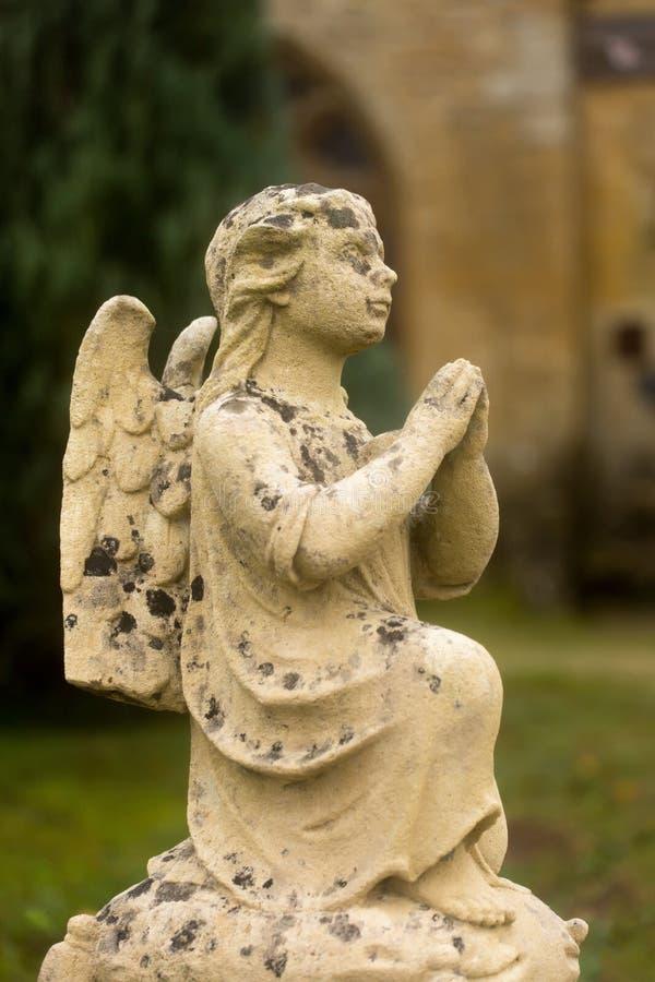 坟园天使 库存照片