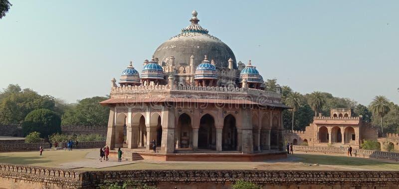 坟茔由Humayun& x27委任;s第一妻子和首要一致,女皇Bega Begum& x28;亦称赴麦加朝圣过的伊斯兰教徒Begum& x29; 图库摄影